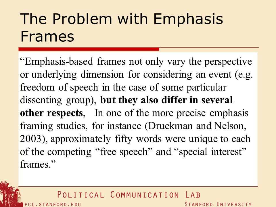 The Problem with Emphasis Frames