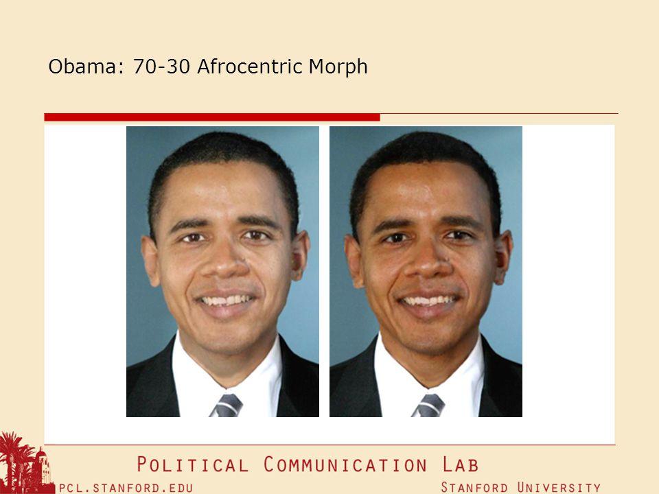 Obama: 70-30 Afrocentric Morph