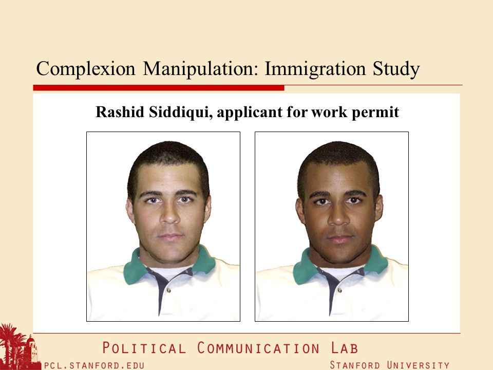 Complexion Manipulation: Immigration Study