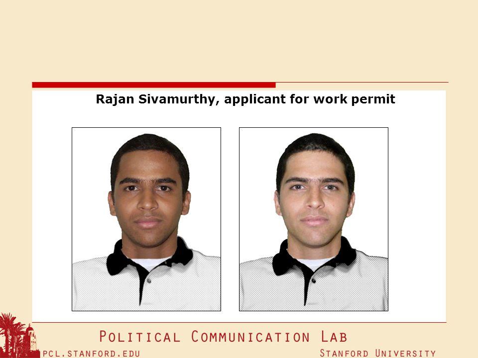 Rajan Sivamurthy, applicant for work permit