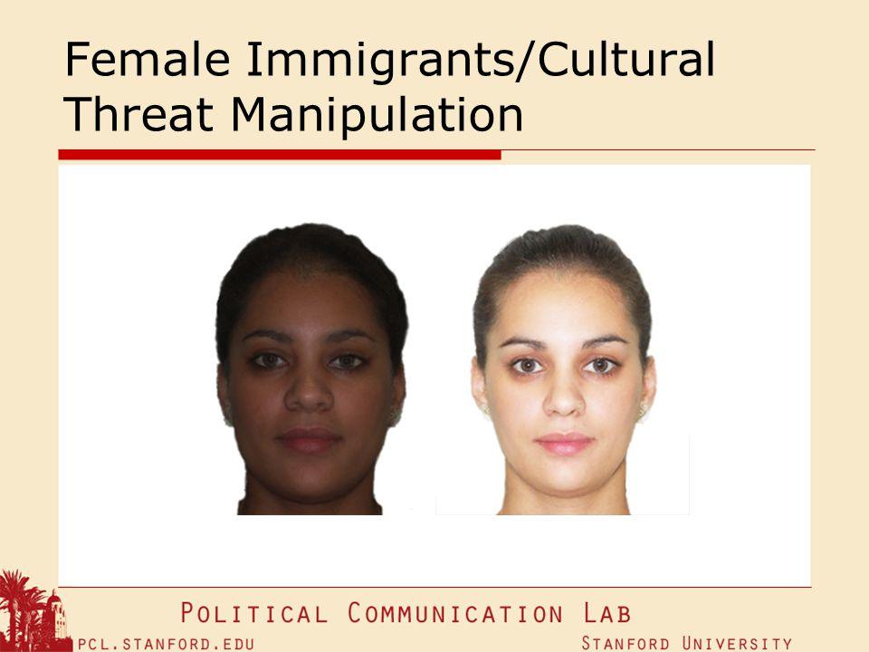 Female Immigrants/Cultural Threat Manipulation
