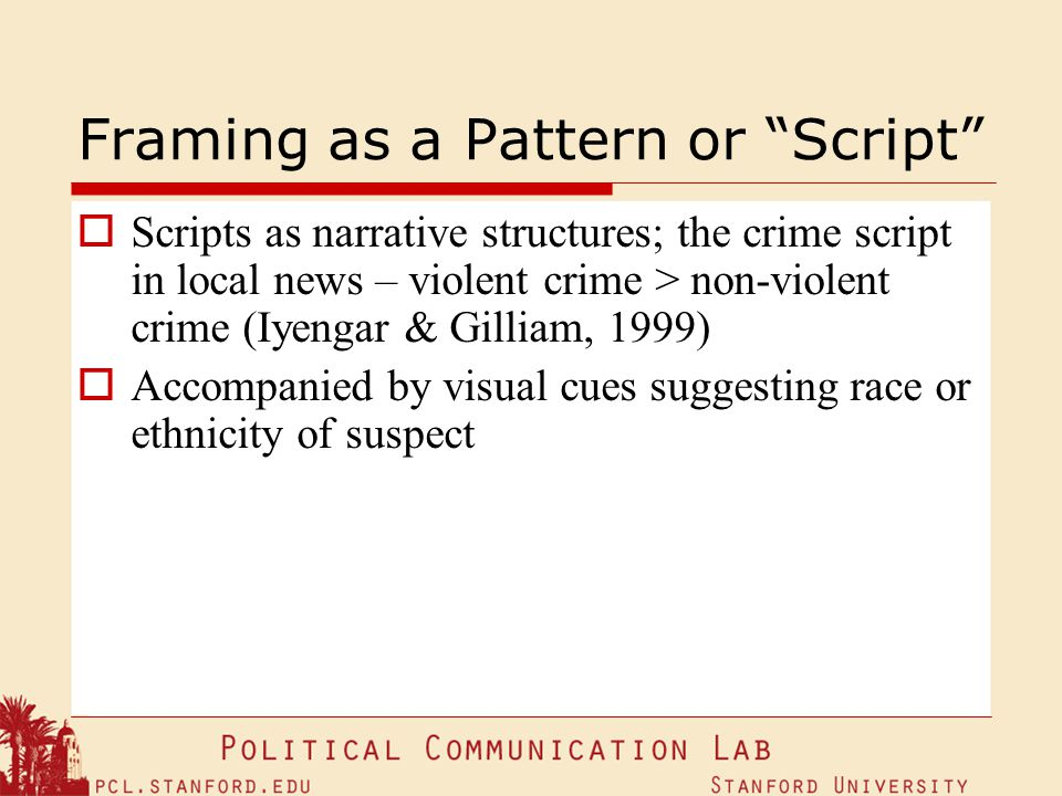 Framing as a Pattern or Script