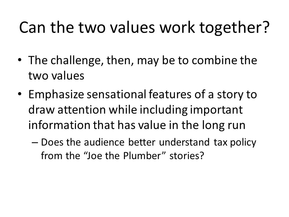 Can the two values work together