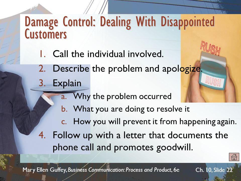 Damage Control: Dealing With Disappointed Customers