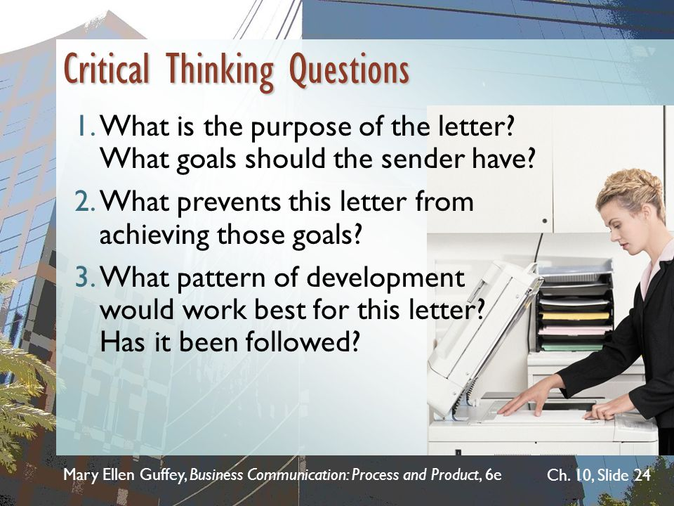 how to write critical thinking questions