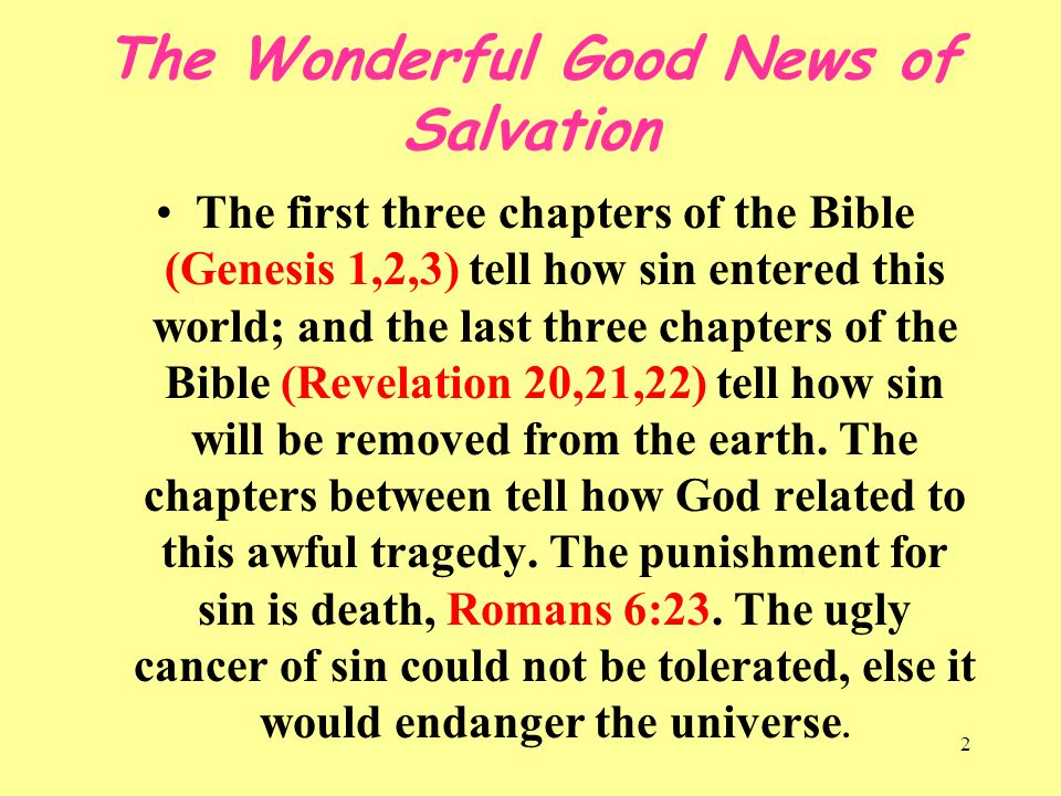 The Wonderful Good News of Salvation