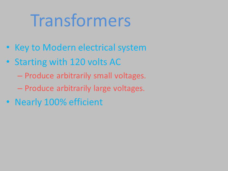 Transformers Key to Modern electrical system