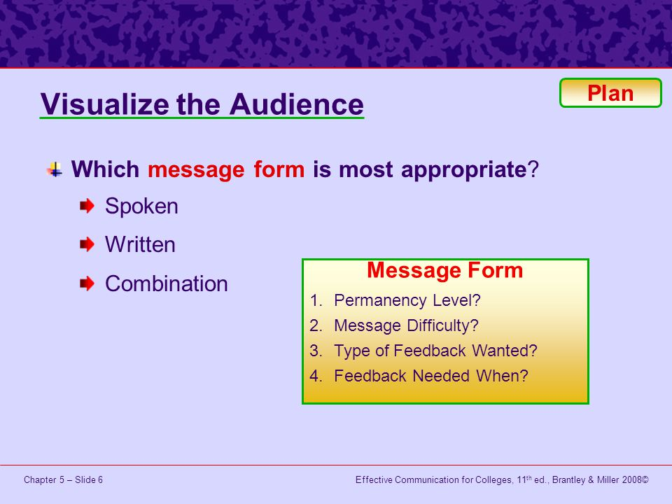 Visualize the Audience