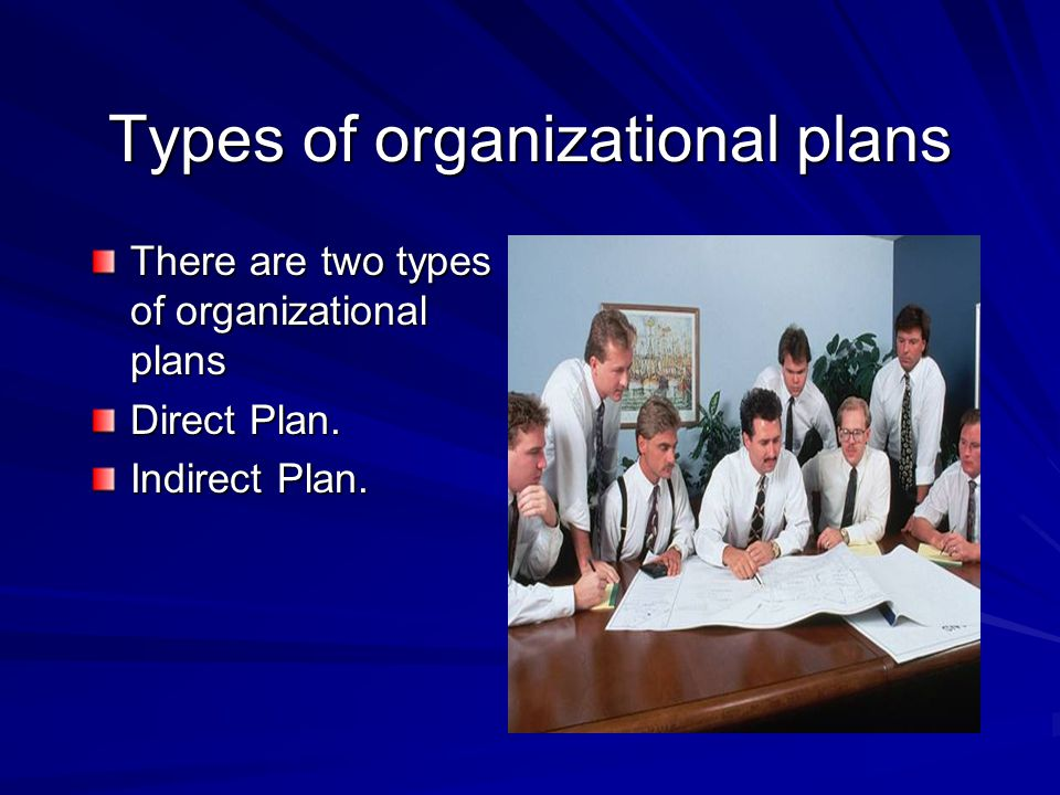 Types of organizational plans