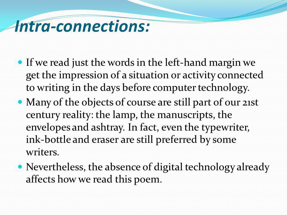 Intra-connections: