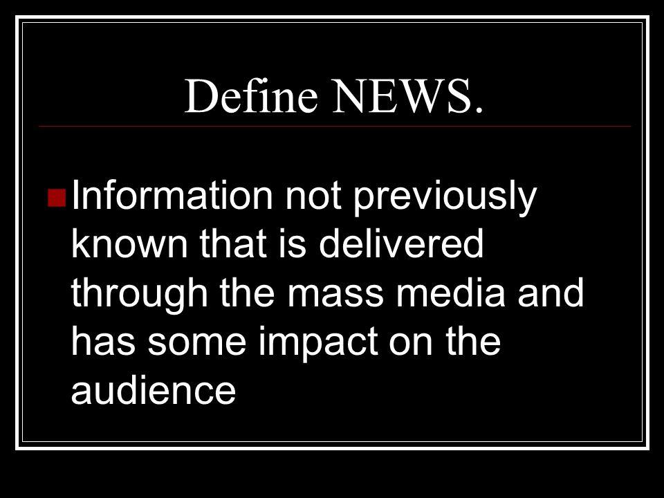 Define NEWS.