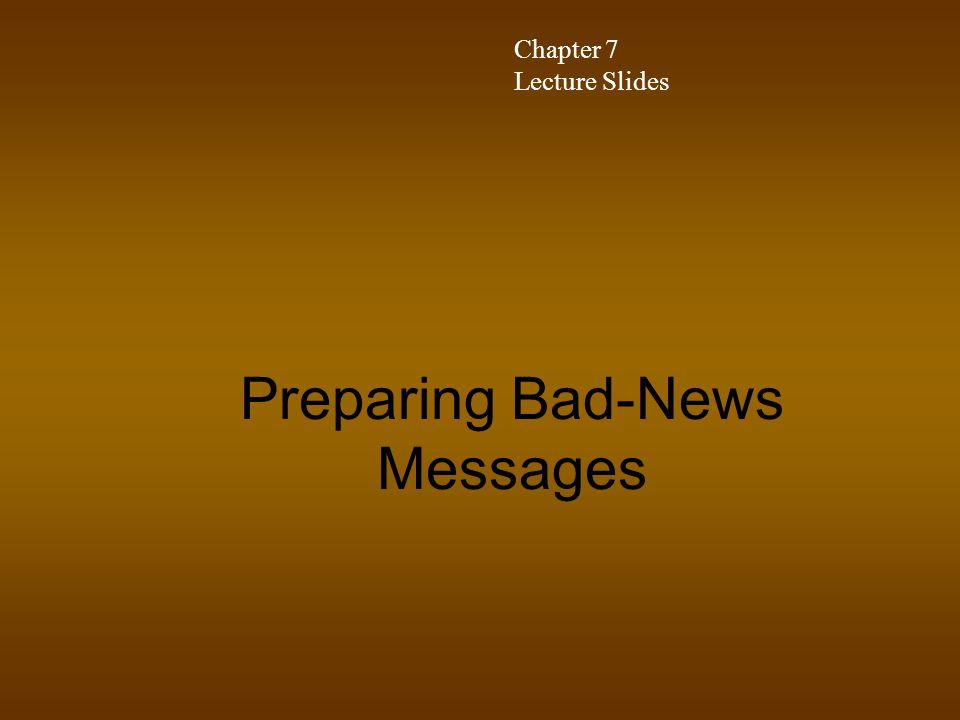 Preparing Bad-News Messages