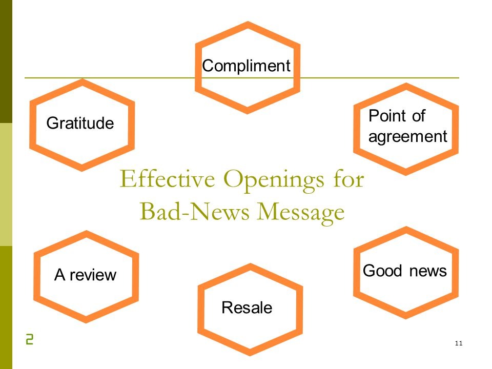 Effective Openings for Bad-News Message