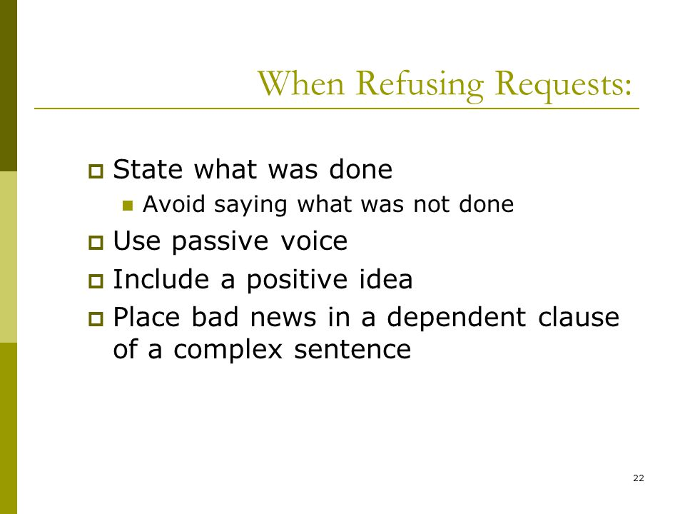 When Refusing Requests:
