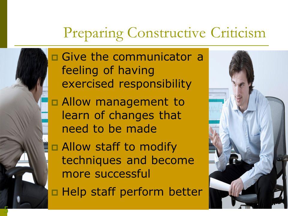 Preparing Constructive Criticism