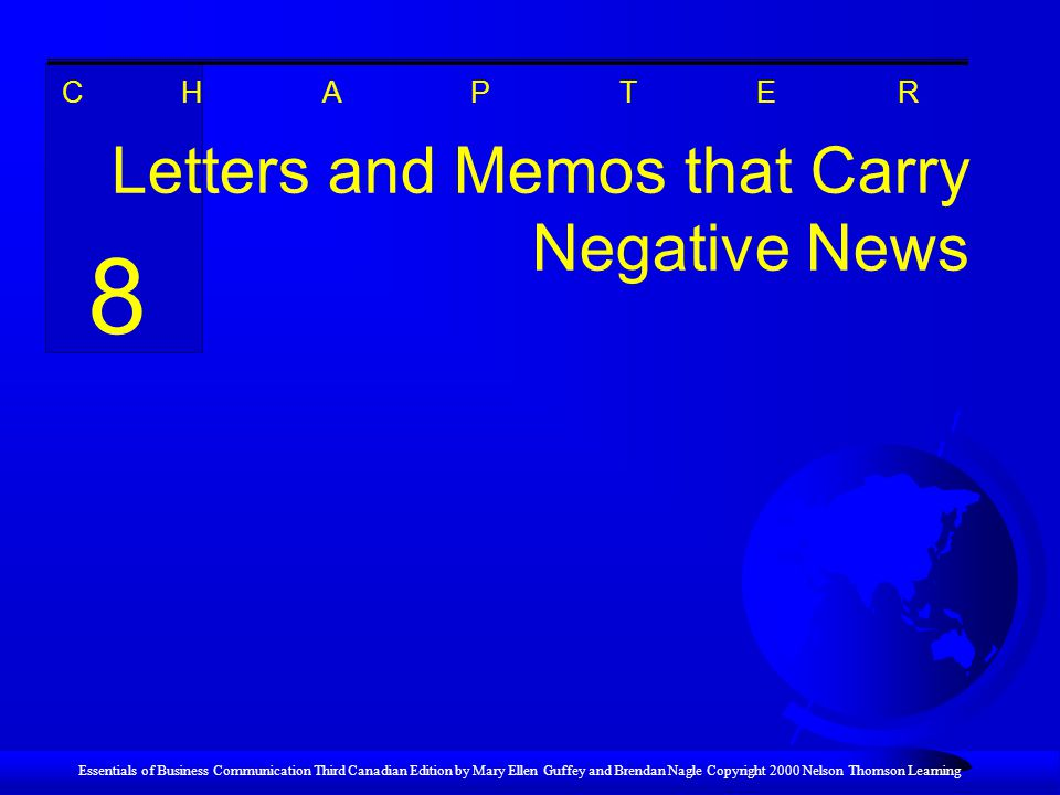 Letters and Memos that Carry Negative News