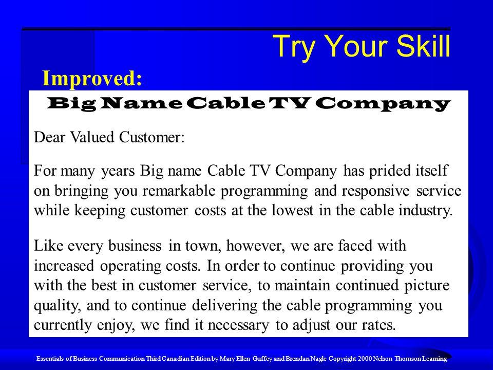 Big Name Cable TV Company