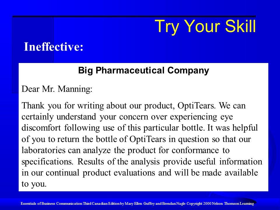 Big Pharmaceutical Company