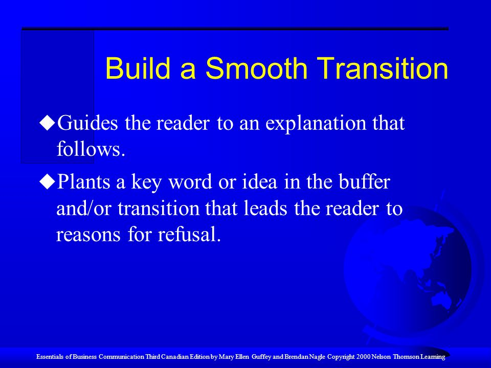 Build a Smooth Transition