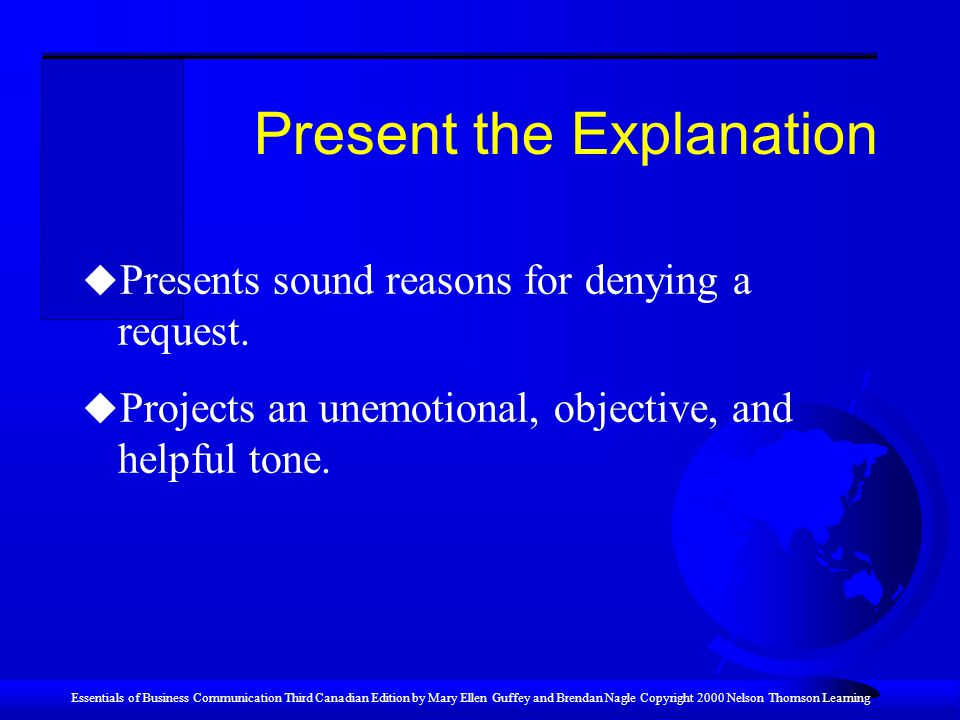 Present the Explanation
