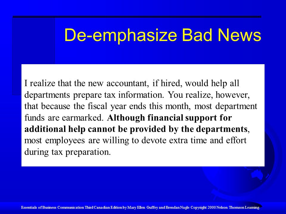 De-emphasize Bad News