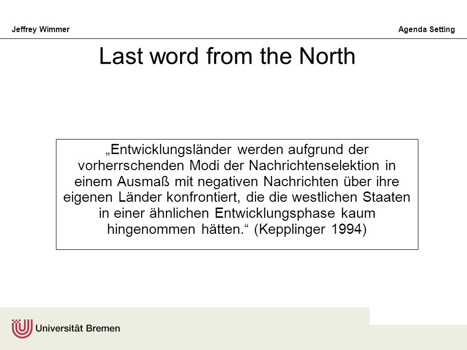 Last word from the North