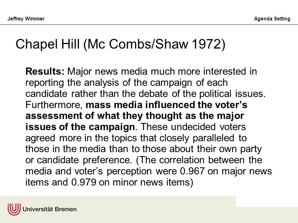 Chapel Hill (Mc Combs/Shaw 1972)