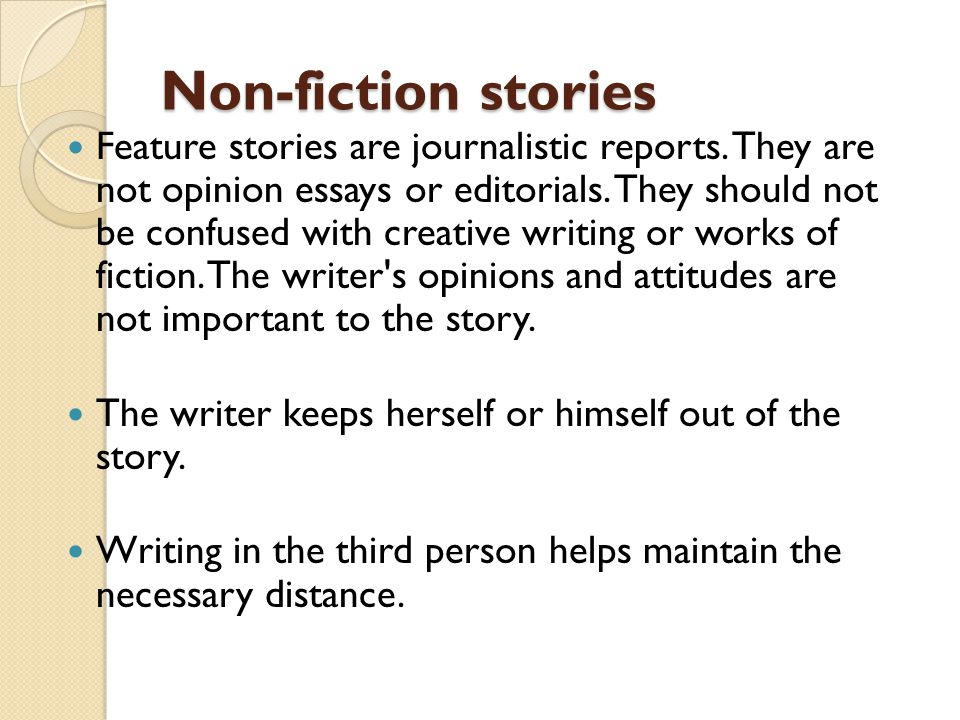 Non-fiction stories