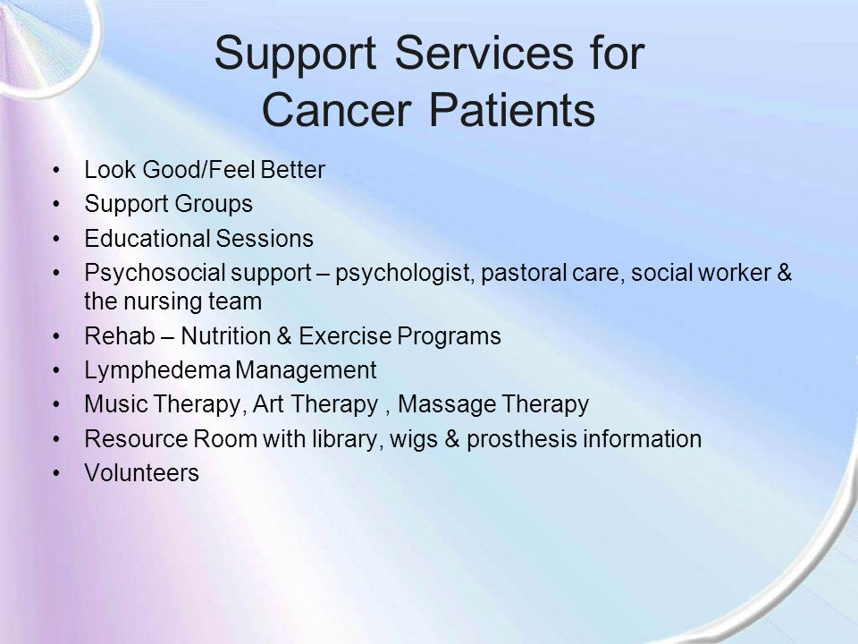 Support Services for Cancer Patients