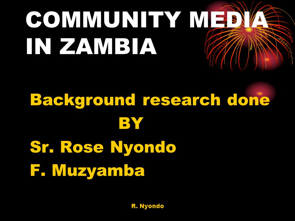 COMMUNITY MEDIA IN ZAMBIA