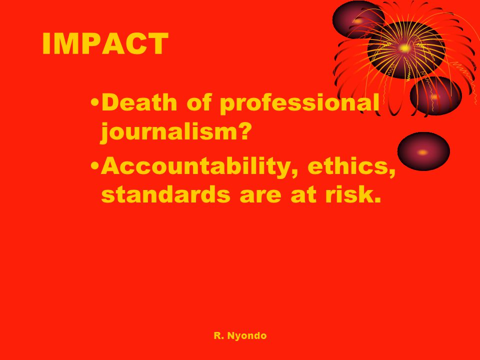 IMPACT Death of professional journalism