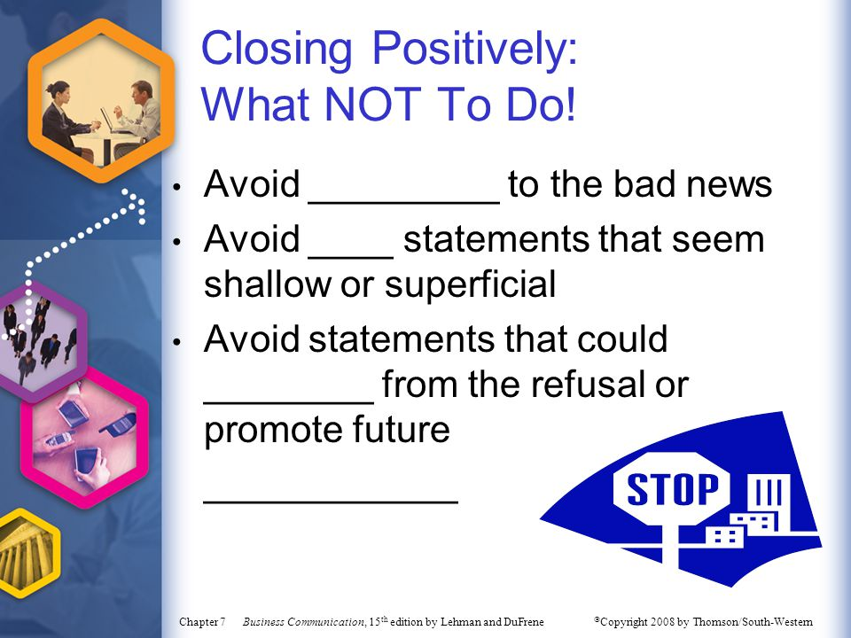 Closing Positively: What NOT To Do!