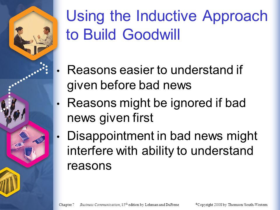 Using the Inductive Approach to Build Goodwill