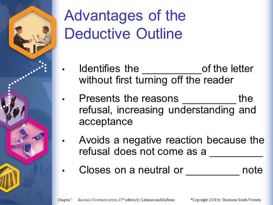 Advantages of the Deductive Outline