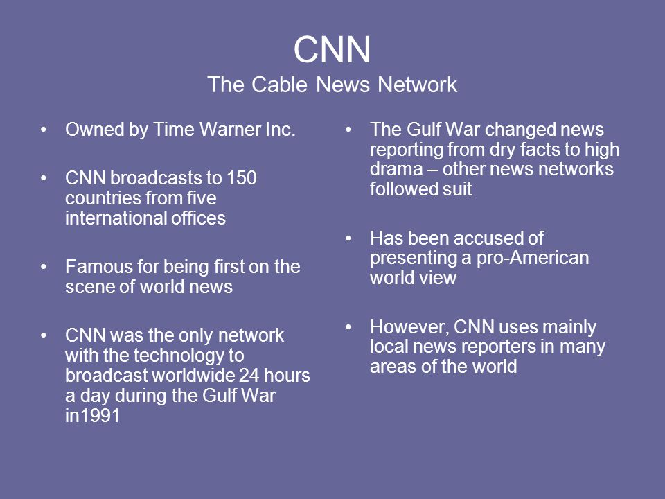 CNN The Cable News Network