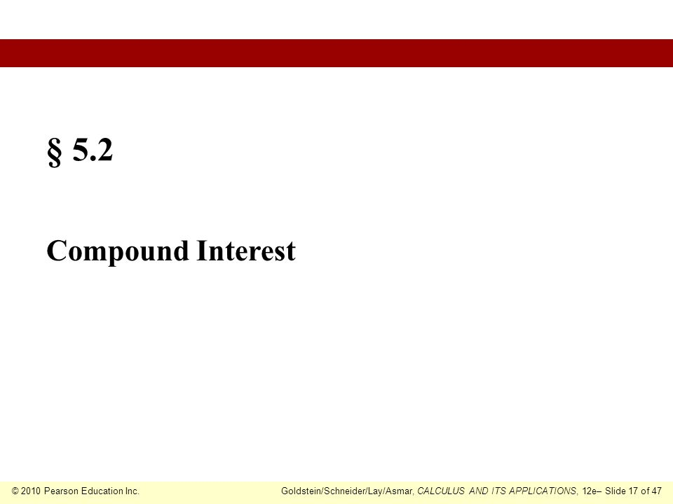 § 5.2 Compound Interest