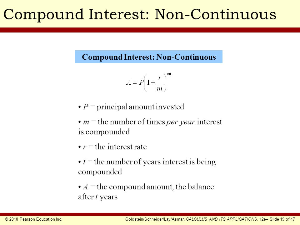 Compound Interest: Non-Continuous