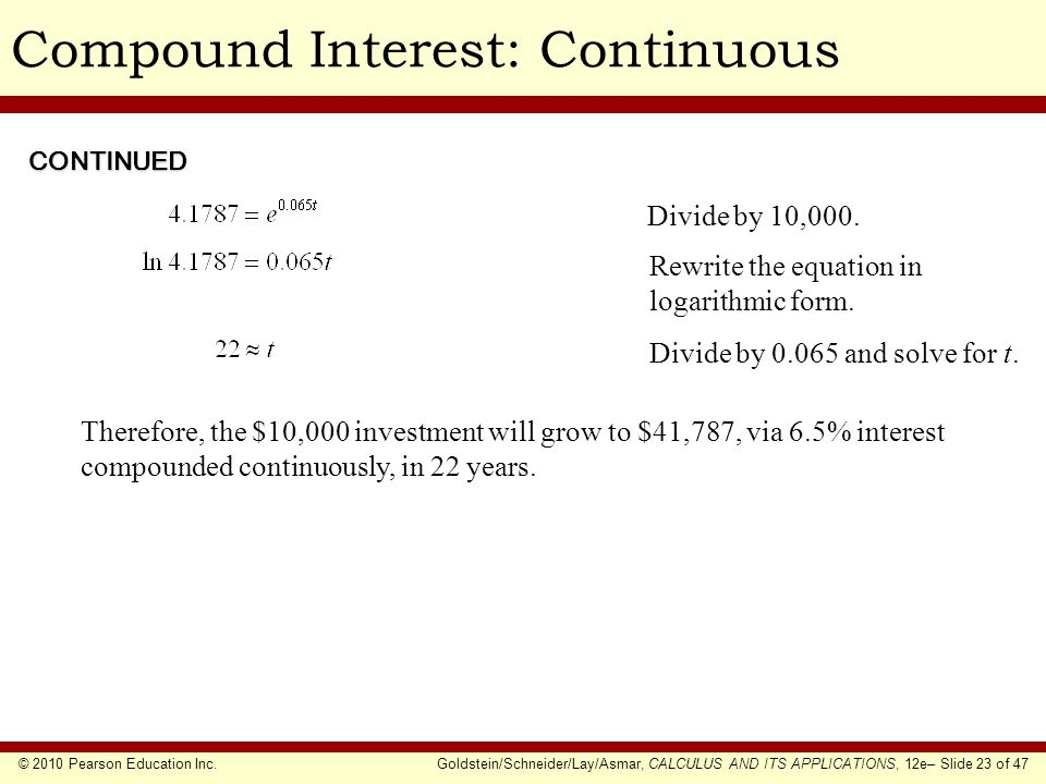 Compound Interest: Continuous