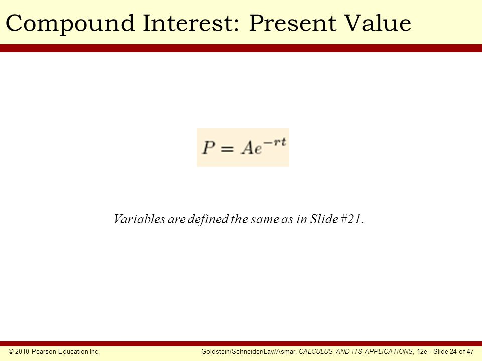Compound Interest: Present Value