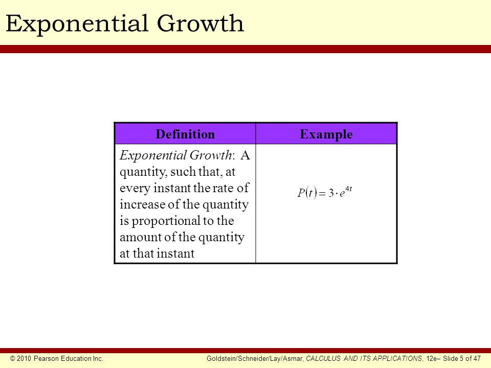 Exponential Growth Definition Example