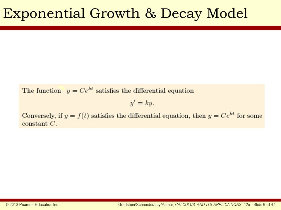Exponential Growth & Decay Model