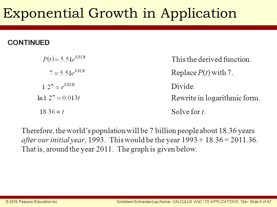 Exponential Growth in Application