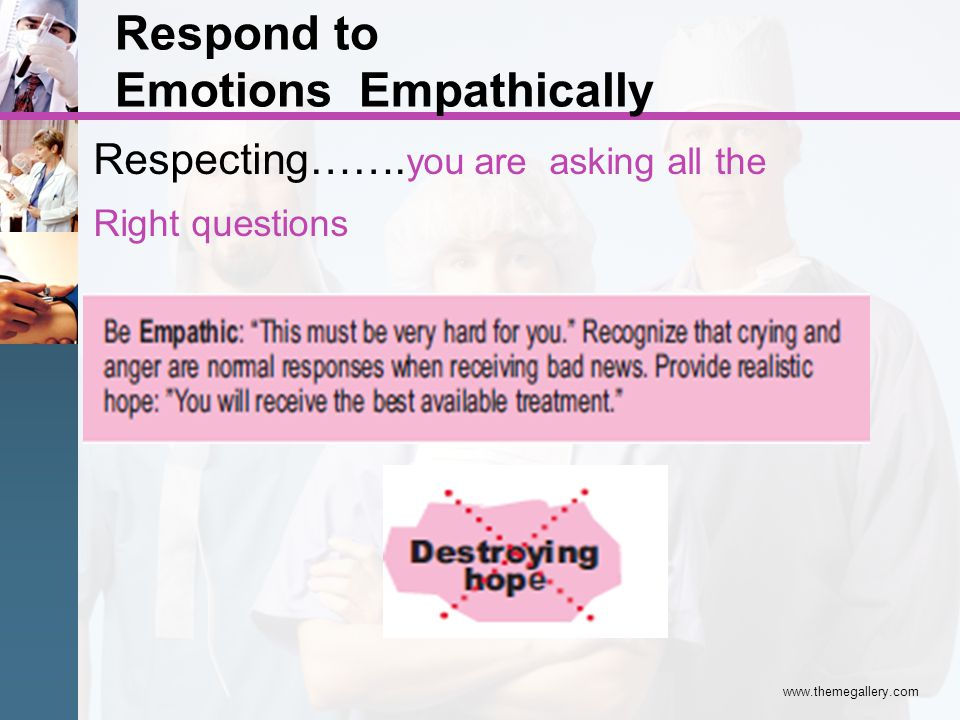 Respond to Empathically Emotions