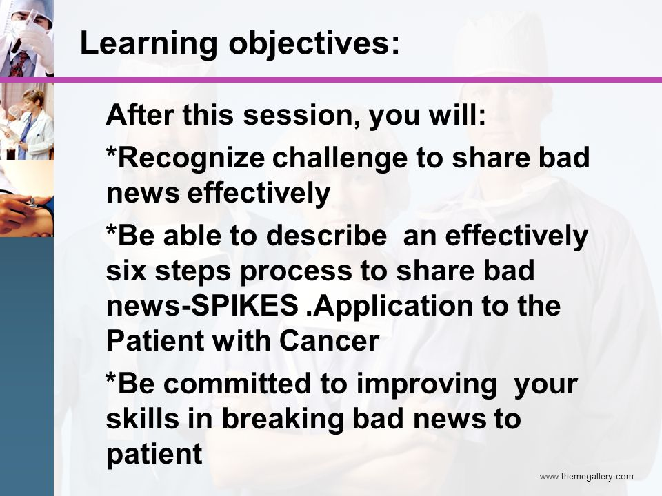 Learning objectives: After this session, you will: