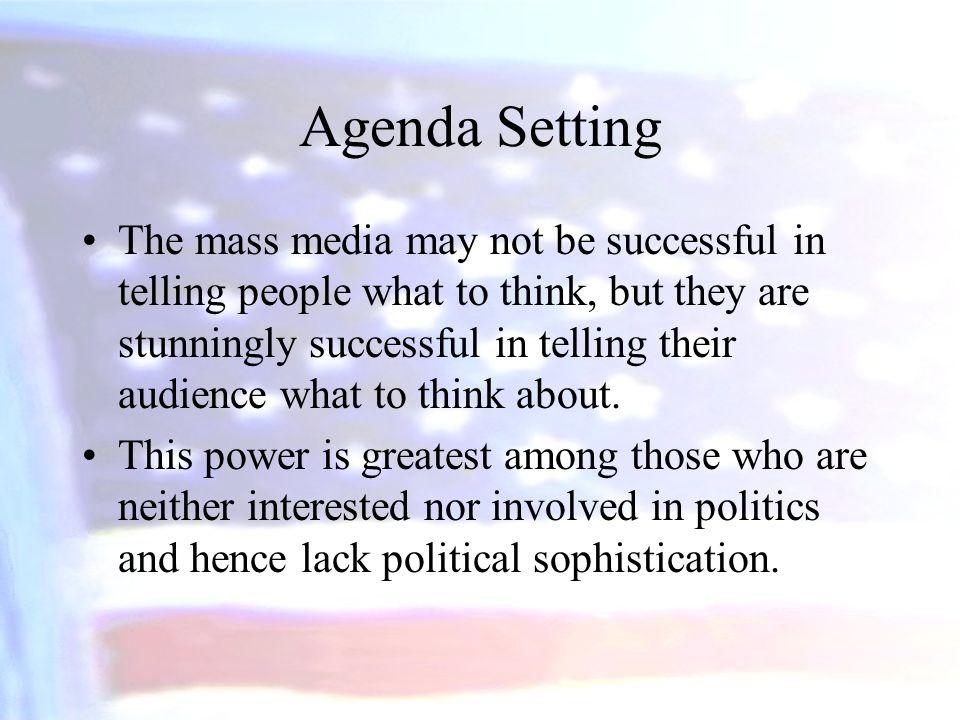 agenda setting of mass media Max mccombs on agenda-setting theory  the media (framing, priming, agenda setting) - duration:  agenda setting theory - duration:.