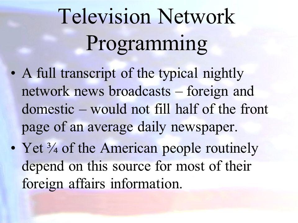 Television Network Programming