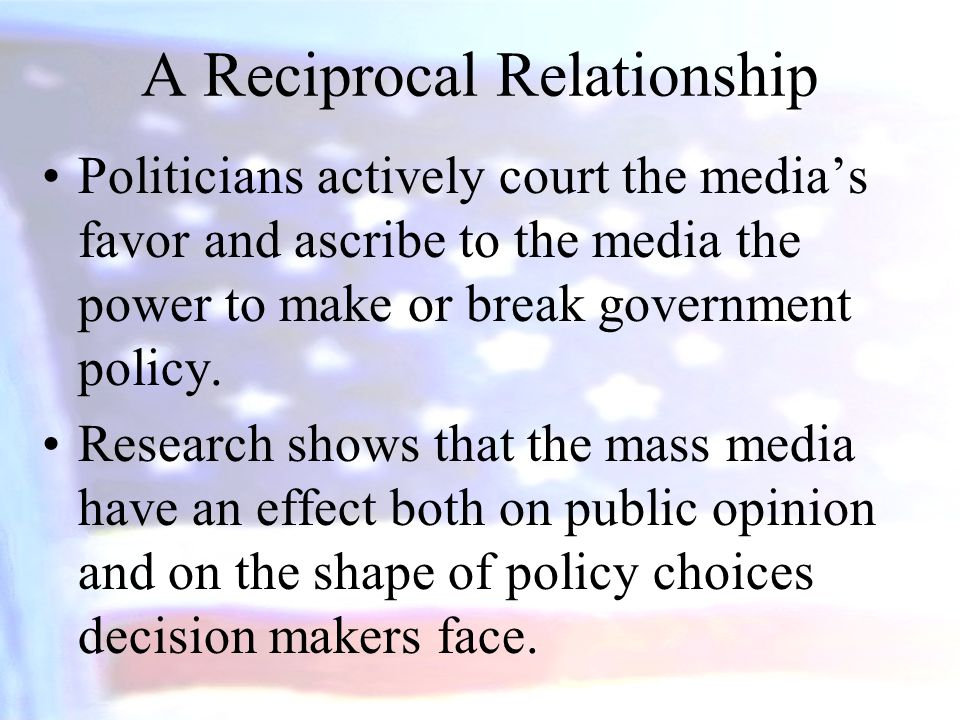 A Reciprocal Relationship