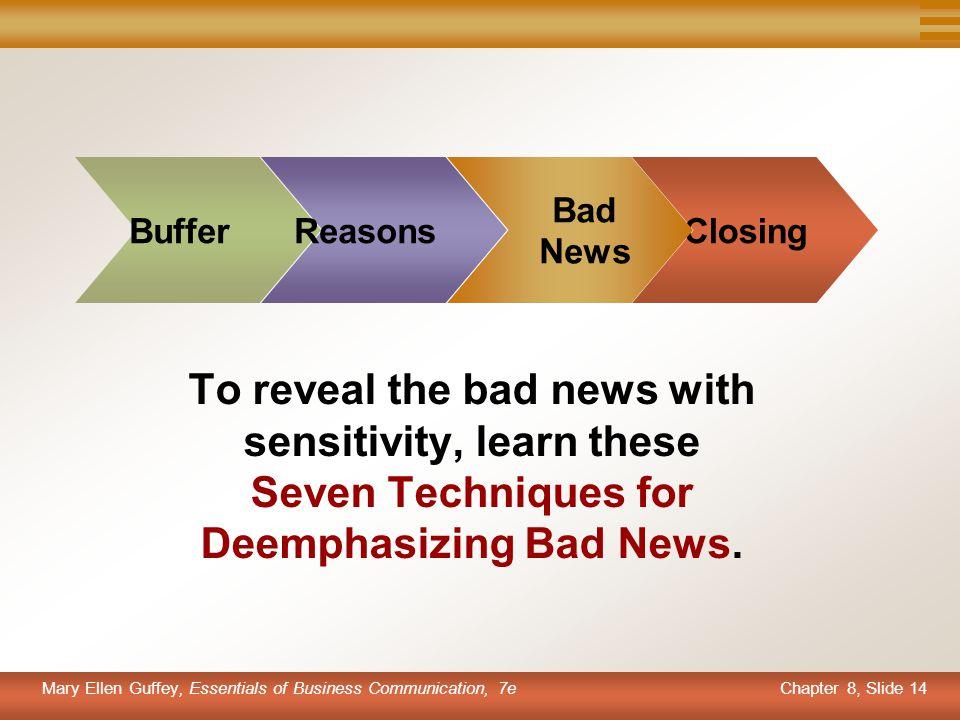 Buffer Reasons. Bad. News. Closing.
