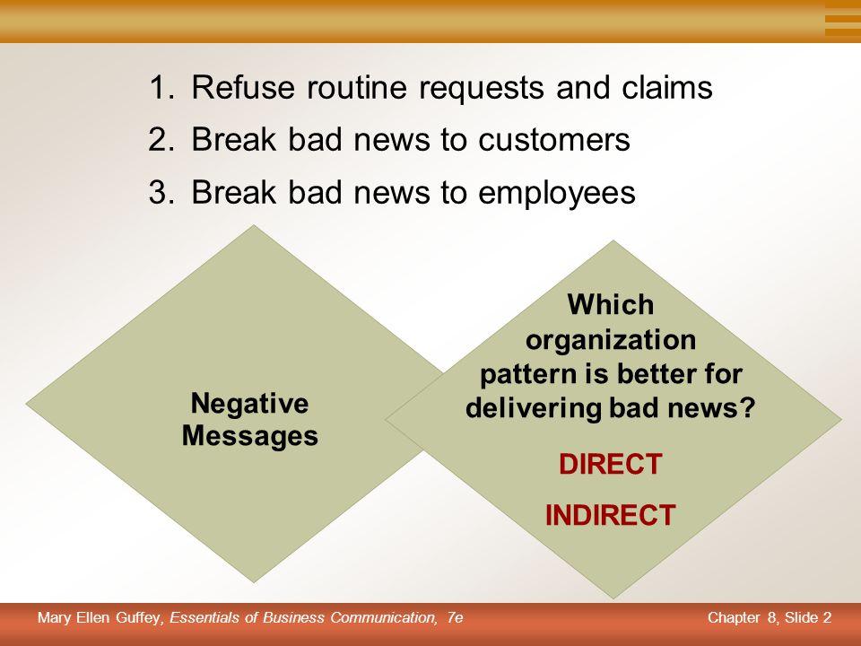 pattern is better for delivering bad news