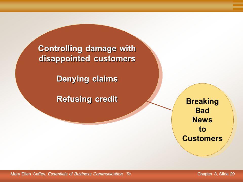 Breaking Bad News to Customers